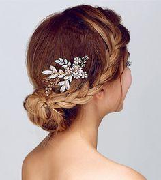 Bridal Hair Comb, Grecian Hair Comb, Leafs Hair comb, crystals hair comb, branch hair comb, boho hair comb