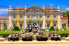 National Palace of Queluz Just a 15 minute drive from Lisbon lies the stunning National Palace of Queluz. Designed by Mateus Vicente, the palace is one of Portugal's most prestigious and recognizable landmarks. Visit the formal gardens, which include the largest collection of English sculptor John Cheere's work, and often hosts concerts and royal events. Take a moment to tour the palace, and gaze in awe at the lavish interior, which was designed by Jean-Baptise Robillion, and includes a…