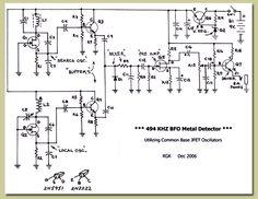 نتیجه تصویری برای how to make arduino under ground gold detector Hobby Electronics, Electronics Projects, Metal Detektor, Pulse Induction Metal Detector, Arduino Cnc, Gold Detector, Metal Detecting, Electronic Engineering, Circuit Diagram