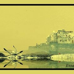 laure port mouette rempart citadelle jaune brume Laura Lee, Fishing Boats, Big Ben, Black And White, Beach, Travel, Black People, Black White, Blanco Y Negro