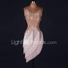 Danse latine Robes Femme Spectacle Spandex 1 Pièce Sans manche Taille moyenne Robe de 2017 ? €72.72