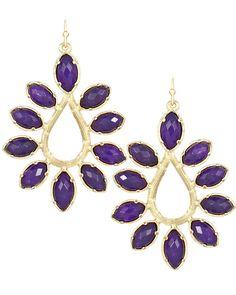 Purple Earrings | Nyla Earrings in Purple Jade - Kendra Scott Jewelry
