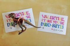 Sugar free dinosaur valentines for kids - free printable.