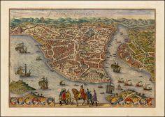 Byzantium Nunc Constantinopolis - Barry Lawrence Ruderman Antique Maps Inc. Old Maps, Antique Maps, Historical Maps, Vintage World Maps, History, Antiques, Prints, Painting, Image