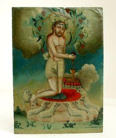 Sangre de Cristo Retablo | Colonial Arts