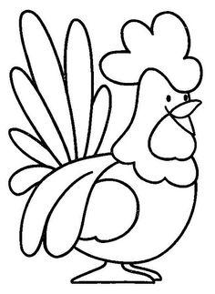 """Как сделать аппликацию из ткани """"курочка"""", """"петух"""" своими руками, шаблоны?"""