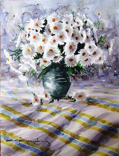 CELAL GÜNAYDIN Türkish Artist Painter Watercolor Suluboya