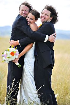 BROTHER of BRIDE with couple