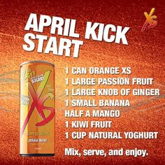 So delicious! And healthy! Get your XS Energy drink at… Smoothie Recipes, Smoothies, Amway Business, Mental Health Campaigns, Orange Drinks, Nutrilite, Body Is A Temple, Natural Energy, Healthy Drinks