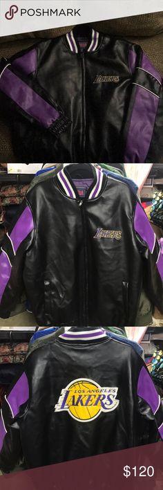 Lakers varsity jacket Size large. Great condition. Minimal wear. Jackets & Coats Bomber & Varsity