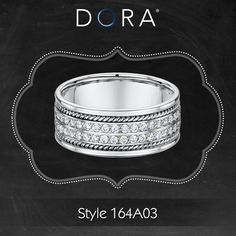All white stunning eternity diamond ring with elegant rope details. >> http://dorarings.com/stores/ #weddingplanning #weddingring