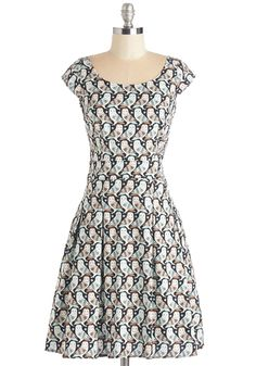 Owl-Time Favorite Dress. And the winner for most-beloved bird print goes to this sweet black owl dress! #multi #modcloth