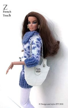 ZFT-Designer OOAK Winter Outfit for Fashion Royalty dolls, FR2, beret,belt,purse   eBay