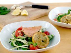 Veggienudeln mit Lachs und kandierter Zitrone. Die tollsten Rezepte zum Abnehmen! Aff link