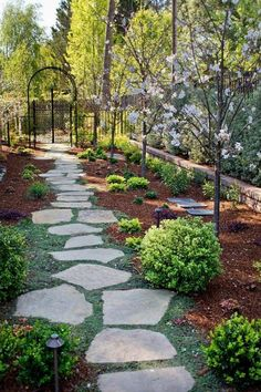 Garden Path Ideas with plants and flowers to make your way home more exciting ... #exciting #flowers #garden #ideas #plants #backyardfarming