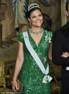 Princess Victoria stunned in emerald green