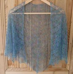 Free Pattern Crochet Lace Shawl Milobo any yarn, any size. this example in very fine lace yarn.
