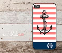 iPhone 5 Case anchor iPhone 5 case nautical by EmbellishCases, $17.99