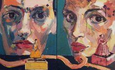 """Saatchi Online Artist Fotini Hamidieli; Painting, """"Figures"""" #art"""