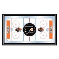Trademark Global NHL Philadelphia Flyers Framed Hockey Rink Mirror - NHL1500-PF