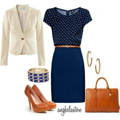 """""""Classic Navy"""" kinda wish I worked so I would have a reason to wear this!!"""