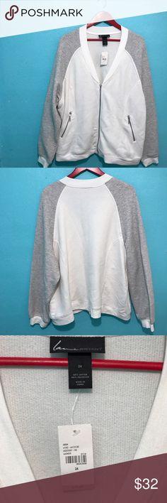 NWT Lane Bryant Sweater Size 24 Lane Bryant  light zip up sweater. 25% off today only! Lane Bryant Sweaters