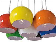 Lámpara de globos multicolor