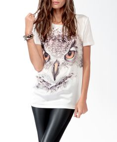 Relaxed Owl Graphic Tee - $14.80