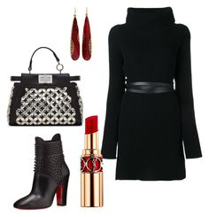 """""""Fall Trends"""" by arta13 on Polyvore featuring Valentino, Christian Louboutin, Fendi, Yves Saint Laurent and Yossi Harari"""