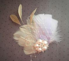 Feather Rhinestone Hair Piece