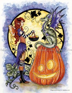 FALL & HALLOWEEN - 5x7 Fall-Halloween Prints - Amy Brown Fairy Art - The Official Gallery