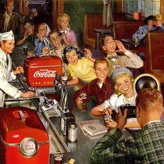Coca-Cola Fountain Photographer (Mad Men Art)