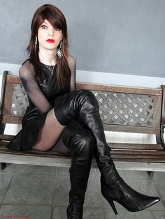 Shemale Pictures: Crossdresser in slutty boots Lgbt, Third Gender, Sexy Boots, High Boots, Sexy Latex, Tgirls, Crossdressers, Beautiful People, Sexy Women