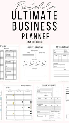 This Business Planner contains everything you need to revamp, grow, and maintain a successful business, along with achieving your financial goals. This Business Planning bundle is for a variety of business types: Business Planner, Business Tips, Successful Business, Small Business Marketing, Bookkeeping For Small Business, Event Planning Business, Business Journal, Salon Business Plan, Startup Business Plan