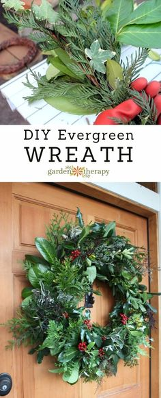 How to make a fresh evergreen wreath for the holidays