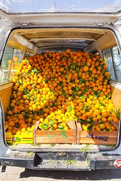 radiantplantlife: Loaded van Fresh OJ stops in Morocco are the very best
