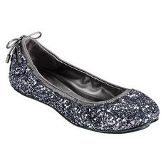 Cole Haan Air Bacara Ballet in Gunmetal Glitter/Antique Silver - I'm always looking for cute flats because I'm so tall. Love these.