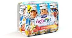 Actimel yogurt drink is now available in 'funky' bottles designed especially for kids, available in strawberry, raspberry and vanilla flavours. Dairy Packaging, Kids Packaging, Pouch Packaging, Packaging Design, Childrens Meals, Let The Fun Begin, Vanilla Flavoring, Bottle Design, Cool Designs