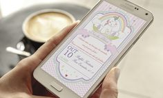 Convite Digital Chá de bebe   Tema Unicórnio    Texto Livre