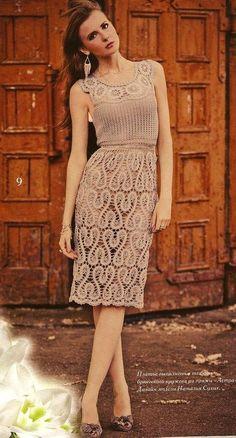 Crochet and Bruges Lace Dress….