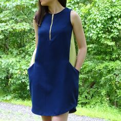 The Hannah Dress - Victory Patterns Diy Sewing Projects, Victorious, Ready To Wear, Sewing Patterns, High Neck Dress, How To Wear, Clothes, Collection, Dresses