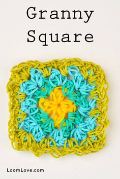 How to Make a Granny Square Using Your Rainbow Loom Hook