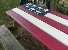 Patriotic Picnic Table for Independence Day Barbecue