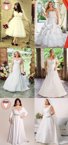 Veja 25 modelos de vestidos de noiva plus size para tirar inspiração e subir ao altar linda e poderosa.