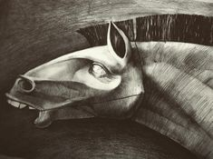 """My pretty pony"" pencil on paper"