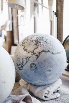 """thedesigndome: """" A Peak Inside One of the Two Hand-Crafted Globe Studios in the World London based studio Bellerby & Co. Globemakers is among one of the only two workshops in the world, which produces..."""