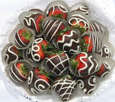 Nicely decorated chocolate covered strawberries