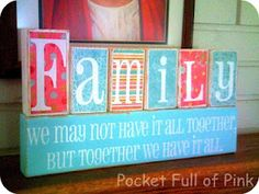 Family wood block