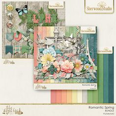 ROMANTIC SPRING - digital scrapbooking kit from Sherwood Studio http://www.thedigichick.com/shop/Romantic-Spring-Bundle.html There's a certain romance to spring - the earth coming alive and blooming, freshness of spirit and air.  This pretty kit has many sweet symbols of romance and spring to help you capture your own memories and the sweetness of the season.