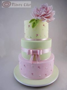 Pink and Mint Green cake
